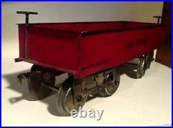 1906 Prewar Lionel Standard Gauge #12 Gondola Lionel Mfg Cream Bottom Ex+. M7