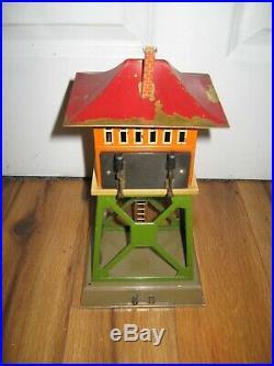 Antique VTG Prewar Ives No. 255 Signal Tower Rare Lionel Tin Train Station VTG