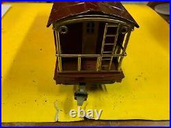 Ives Prewar Wide Gauge 195 Red Caboose WithLionel 217 Caboose Body Ives Trucks