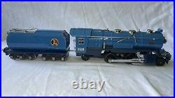 LIONEL 263E Prewar Blue Comet Set With 263W Tender & Boxcars #s 613,614,615