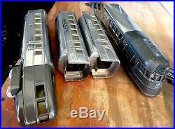 LIONEL PREWAR 616,617(2), 618 FLYING YANKEE STREAM LINER TRAIN SET- Antique-Exc