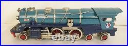 LIONEL PREWAR STD. GAUGE 400E BLUE COMET STEAM LOCO WithVANDY TENDER-EX. RESTORED