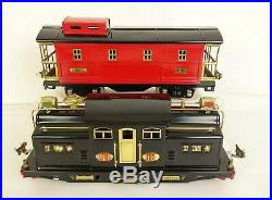LIONEL PREWAR STD. GAUGE COAL TRAIN With318E LOCO-3-516 COAL HOPPERS-517 CABOOSE