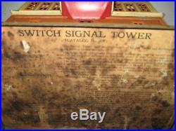 LIONEL PREWAR Standard Gauge 437 SWITCH SIGNAL TOWER Antique VTG Rare Station