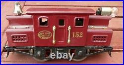 LIONEL Prewar 152 NYC Engine Maroon 1917-23, Serviced-runs -Antique Refurbished