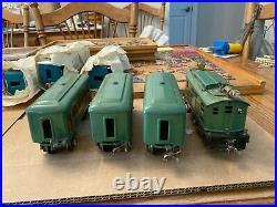 LIONEL Prewar 253 engine 607 607 608 cars restored tested, Great condition runs
