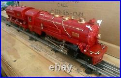 LIONEL Prewar 260E & 260 Tender RED COMET Serviced-Restored, Vintage Runs-read