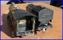 LIONEL-Prewar 260E-Engine & tender-Yellow Stripe, serviced-refurbished, Runs-Read