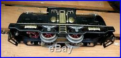 LIONEL prewar 254 Engine Black Antique dated 1920's, Serviced, runs F&R. Restored