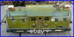 LIONEL prewar 254 Engine Green Antique dated 1920's, Serviced, runs F&R- Orig