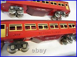 Lionel 1685, 1685, 1687 Vermillion Passenger cars Prewar O Gauge X4193