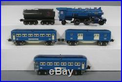 Lionel 194W Prewar Blue Comet Set (263E, 2613, 2614, 2615) ORIGINAL! EX/Box
