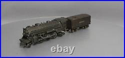 Lionel 224E Vintage O Prewar 2-6-2 Gunmetal Die-Cast Steam Locomotive withTender