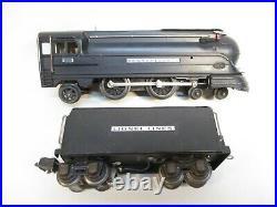 Lionel 238 Torpedo Loco 2225W Tender Black Uncat Prewar O gauge X5318