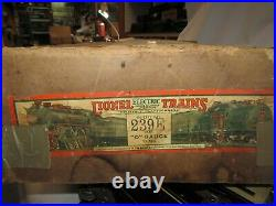Lionel 239e Prewar 1931-33 Set 260e, 260t, 812,813,814,815,817,820 Set Box