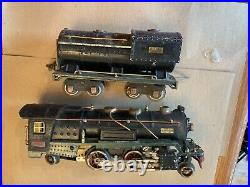 Lionel 260E Loco and tender Black, Green Frames and cream stripe Prewar O Gauge