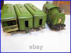 Lionel 266 Set 254, 610s P Green for Export with Box Prewar O Gauge X6354