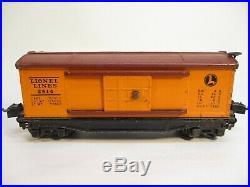 Lionel 2814 Box Car 1940 Orange Stamped Lettering Prewar O Gauge X3541