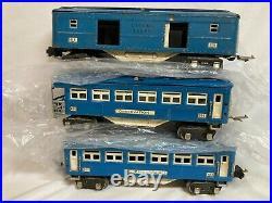 Lionel #613 & #614 & #615 Prewar Baby Blue Comet Passenger Cars Lot #2