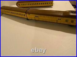 Lionel 752E Vintage O Pre-war Union Pacific Streamliner Set & Box