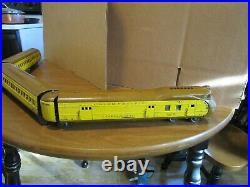 Lionel, 752, Prewar 1935, Union Pac Stream Liner Set, Runs Well, Light PowerUnit