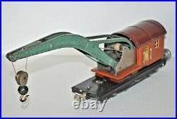 Lionel Lines Prewar 810 Operating Derrick Crane Car O Gauge