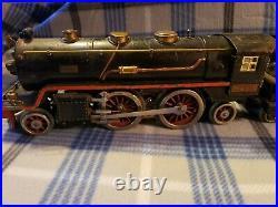 Lionel Lines Prewar Standard Gauge 390e Black Steam Locomotive Train With Tender