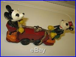 Lionel Mickey Mouse handcar prewar windup Disney character 1930's tested WORKS