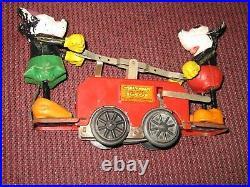 Lionel Minnie & Mickey Mouse famous handcar, prewar, windup, 0 gauge antique toy