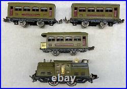Lionel O Gauge Pre-War 294 Set with 252 Loco, 529/529/530 Cars Oliver Green