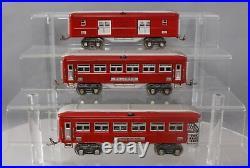 Lionel O Gauge Prewar Red/Silver Passenger Set 613, 614, 615 Restored