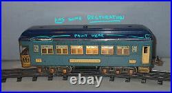 Lionel PREWAR ORIGINAL #712 BLUE 12 wheel OBESRVATION CAR PR