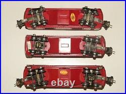 Lionel Pre-War O-gauge Passenger Car Set 600 601 602 Baggage Pullman Observation