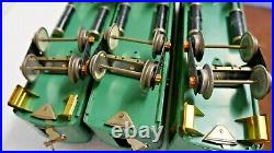 Lionel= Pre- War Standard Gage # 332-339-341 Two Tone Green Pass Cars Nice