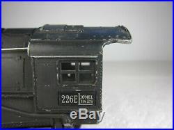 Lionel Pre-war O 226e Loco & 2226wx Die-cast Tender-1938-runs-free Shipping