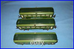Lionel Pre-war O Gauge #613, #613 & #614 Pullman & Observation Passenger Cars