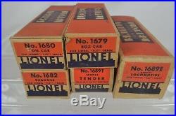Lionel Prewar 0 Gauge Set # 1068e Steam Freight Set W. 1689e Ex-plus Ob, Set Box