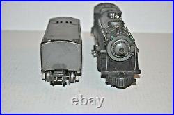 Lionel Prewar 224e Steam Locomotive & 2689w Whistle Tender (gray) O Gauge