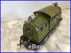Lionel Prewar # 254e Olive Electric Locomotive -run