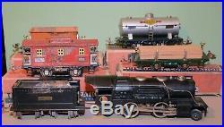 Lionel Prewar 259E 4-Car Steam Freight Set with Boxes