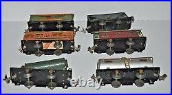 Lionel Prewar 259e Steam Engine & Tender, 803,804,805,806,807,809 Freight Cars