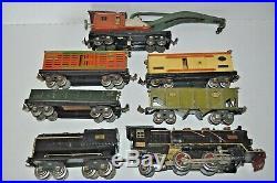 Lionel Prewar 260e Steam Engine & Tender, 810, 812, 813, 814, 816 Freight Cars