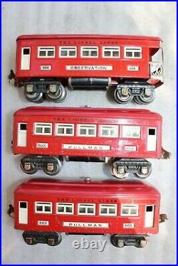Lionel Prewar 291E Red Comet Passenger Set 264E 265T 607 607 608