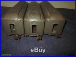 Lionel Prewar 332 339 341 Standard Gauge Passenger Cars Gray & Maroon