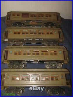 Lionel Prewar 418 419 490 431 Standard Gauge Passenger Cars Mohave & Maroon