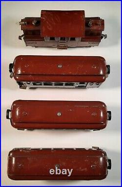 Lionel Prewar 53Type VII, Square Body, 181 Combine, 180 Pullman, 182 Observation