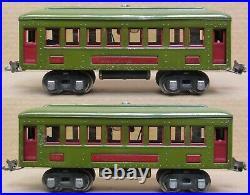 Lionel Prewar 610/610/612 Olive Green Tinplate Passenger 3-Car Set O-Gauge