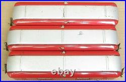Lionel Prewar 615/613/614 Tinplate Red 3-Car Passenger Set ORG PAINT O-Gauge