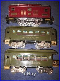 Lionel Prewar 8 Standard Gauge 0-4-0 Electric Locomotive with35 36 Passenger Cars
