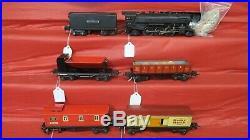 Lionel Prewar Boxed Freight Set 1666,2689w, 2677,2679,2682,3659,1041 -unique Roof